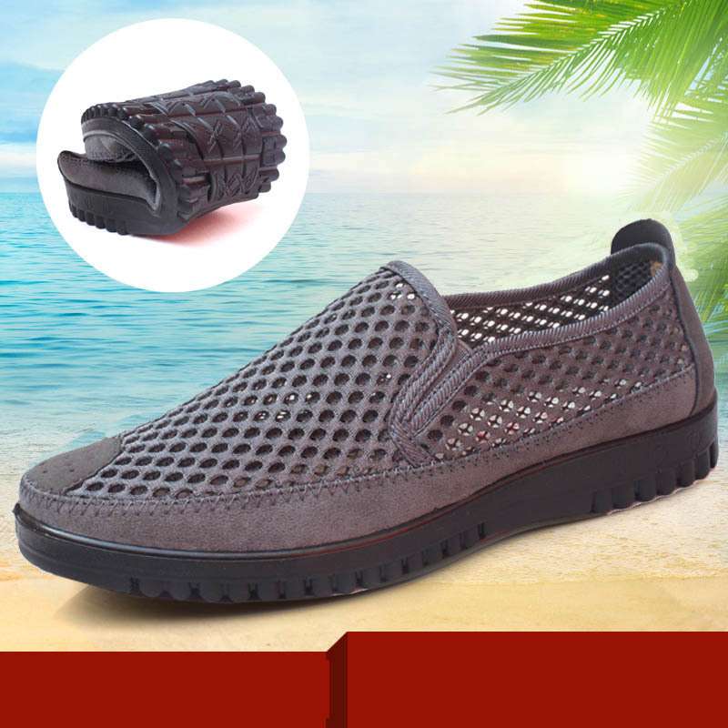 Old Beijing cloth and summer recreational sport soft bottom and breathable mesh Sandals comfortable plus size shoes(China (Mainland))