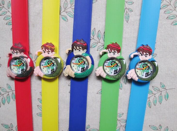 Free shipping by DHL! 100pcs/lot! Top Sale Ben 10 Slap Watch Cartoon Children Wristwatch Slap Watch  Wholesale