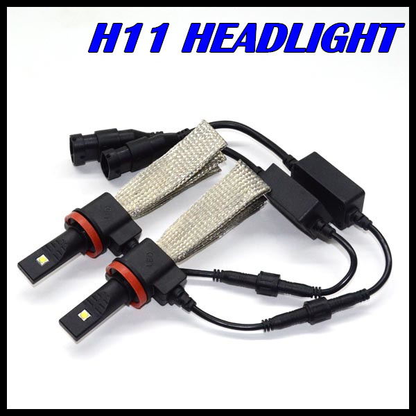 New Design H11 H7 LED headlight cree XML chips fog lamp Auto led headlight H11 H7 for all vehicles H11 LED headlight 20W 2500LM<br><br>Aliexpress