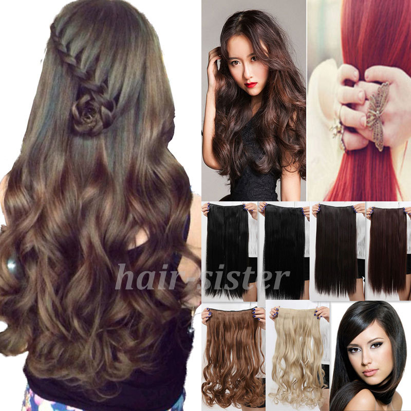 Curly Synthetic Hair Extensions Clip in Synthetic Hair Extensions