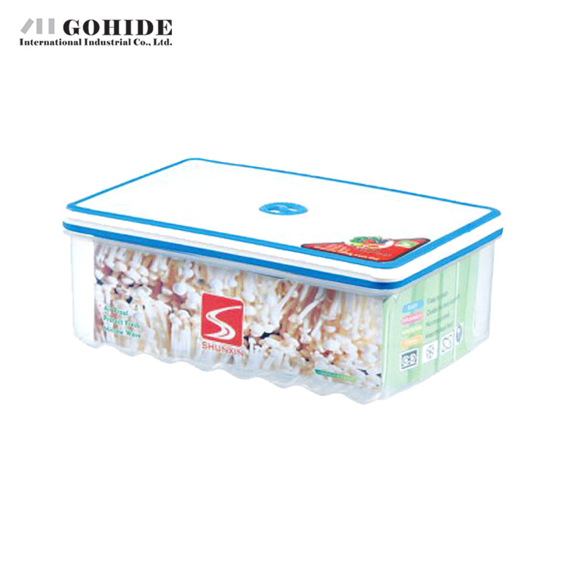 Gohide 2500ml Plastic Microwave Oven Box Rectangle Sealed Food Storage Box Large Capacity Preservation Box Container Kitchen(China (Mainland))