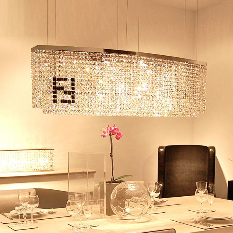 100% crystal Novelty F Rectangular chandelier crystal candelabro lustres dining room Curve crystal chandeliers hot sale k9 LED(China (Mainland))