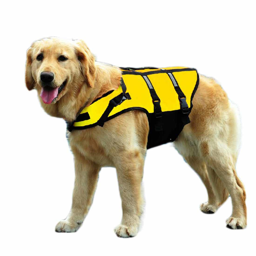 Hot Marketing High Quality Pet Dogs Swimming life jackets Dogs Safety Clothes S M L tanwc(China (Mainland))