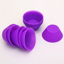 12 Rounds Soft Silicone Cake Muffin Chocolate Cake Liners Baking Cup Cake Mold Supplies(China (Mainland))