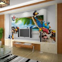 3D carton anime funny wall murals wallpaper for home decor bedroom kids room wall decals tv sofa background(China (Mainland))