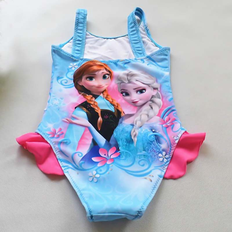 Free Ship 5pcs/lot elsa and anna Swimsuit For Girls,One Piece princess Swimwear Children Beachwear For Summer Costumes NO.5<br><br>Aliexpress