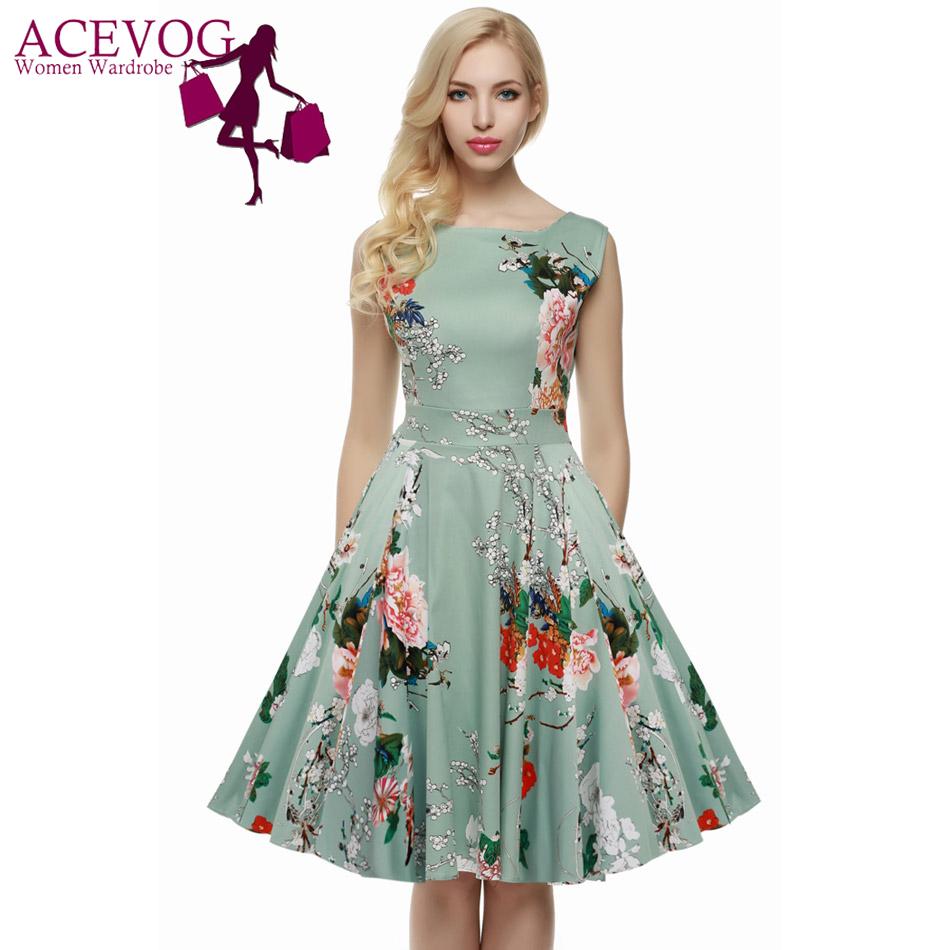 Aliexpress.com : Buy ACEVOG Brand S 4XL Women Dress Retro ...