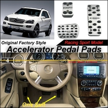 Car Accelerator Pedal Pad / Cover Factory Sport Racing Design Mercedes Benz ML M Class MB W164 AT Foot Throttle - speed car store