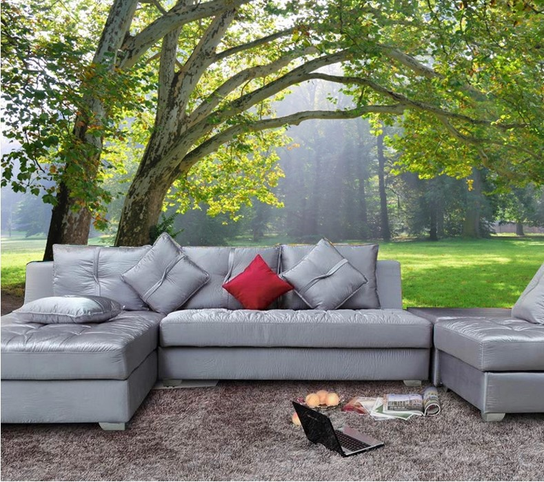 Compra paisaje papel tapiz para paredes online al por for Murales en 3d para salas
