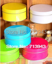 Buy Dia.100x50H mm/Colorful candy color brief zakka circle storage tin gift box candy box for $49.00 in AliExpress store