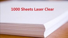 DHL Fast Delivery 1000 Sheets A4 Laser Printer Water Slide Decal Paper Sheets Transparent Clear(China (Mainland))