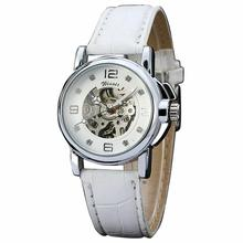 Winner Women's Watch Newest Design Watches Lady Top Quality Factory Shop Fashion Skeleton Mechanical Wristwatch Color White W091