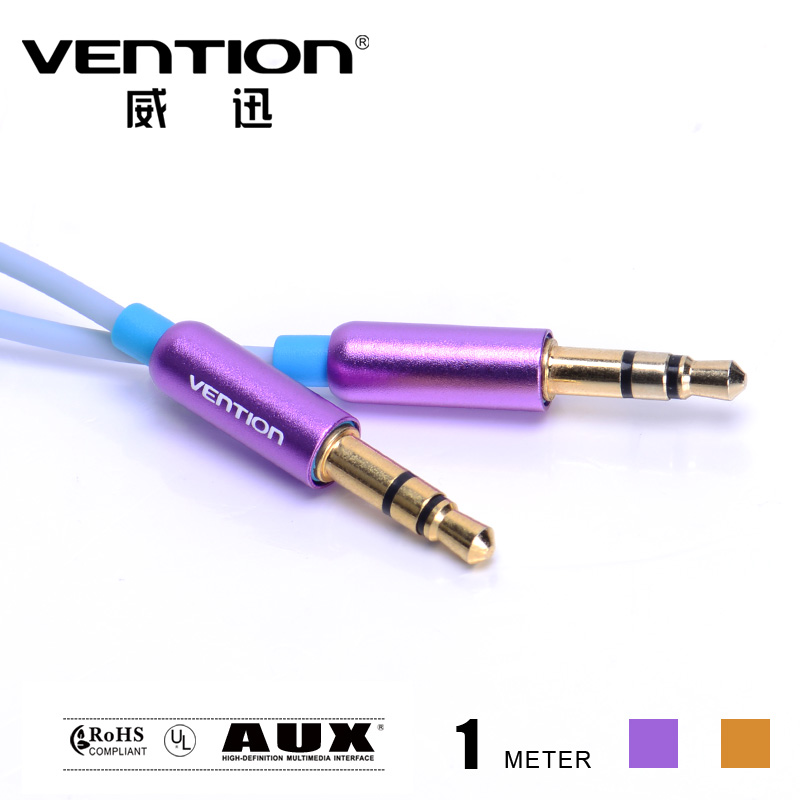 2014 fashion mobile phone cables 100cm Audio & Video Cables 3.5mm jack to jack blue aux cables for car mp3 mp4 cellphone(China (Mainland))