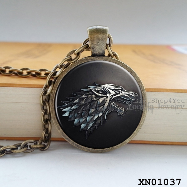 2015 new arrival Song of ice and fire jewelry vintage necklace women game of thrones pendant