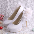 Sexy High Heels Wedding Shoes Bridal Shoes Double Platform with Flower Dropship