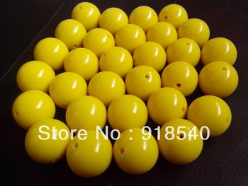 Yellow  Large 20MM 105pcs Big Chunky Gumball Bubblegum Acrylic Solid Beads ,Colorful Chunky Beads for Necklace Jewelry