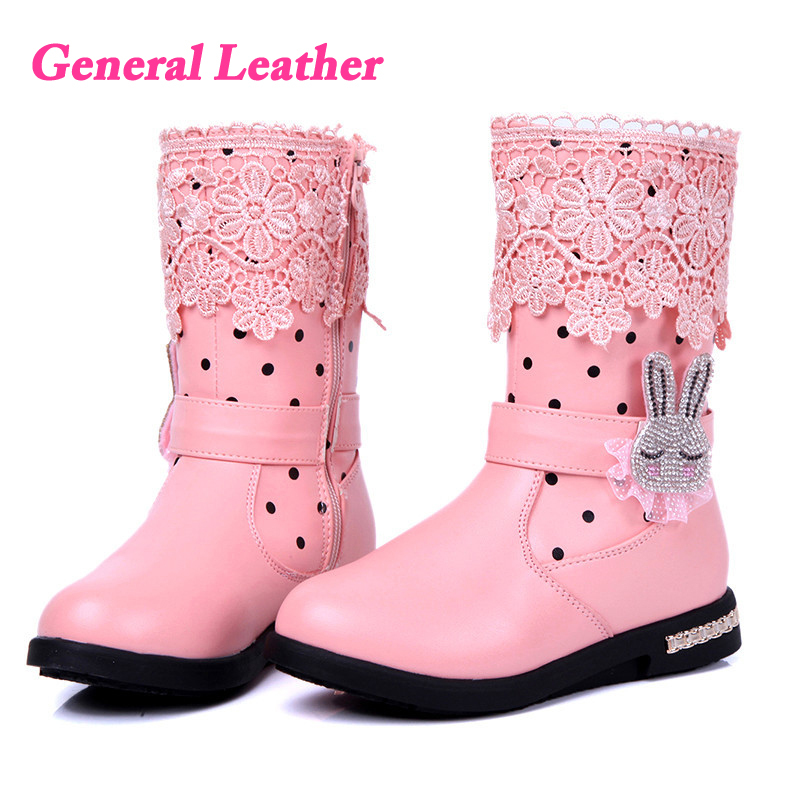 2015 new style children boots general leather boots girls korean design boots high quality shoes(China (Mainland))