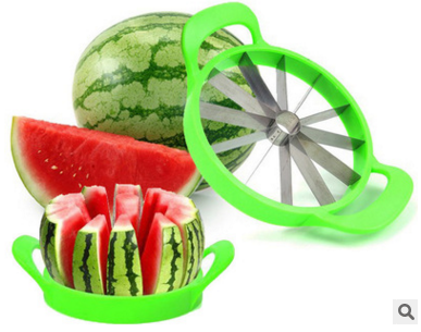 Special extra large stainless steel watermelon cutting artifact enucleation slice cutter splitter(China (Mainland))