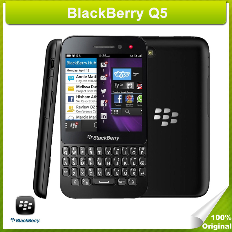 Refurbished Original BlackBerry Q5 Mobile Phone Dual-core 1.2GHz 2GB RAM+8GB ROM QWERTY GPS NFC WCDMA & GSM(China (Mainland))