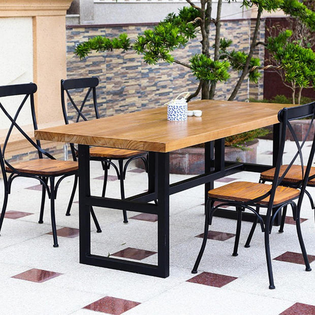 American country retro furniture wrought iron dinette