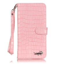 Luxury Crocodile Flip Leather Case For iPhone 5 5s SE 6 6s 7 7Plus Wallet Card Slots Stand Women Handbag Phone Cover Free Film(China (Mainland))
