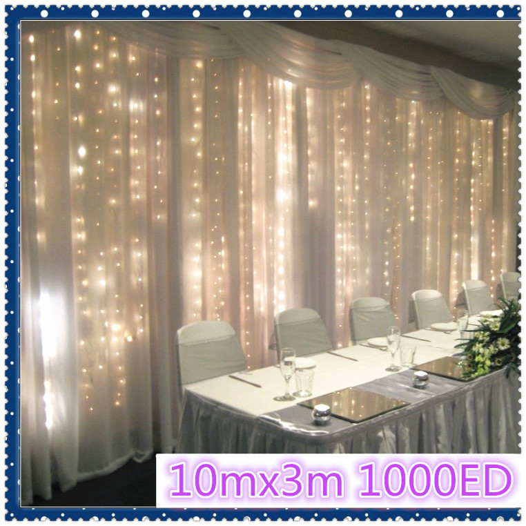 1000LED 10M*3M curtain string lights Christmas Garden lamps New year Icicle Lights Xmas Wedding Party Decorations free shipping(China (Mainland))