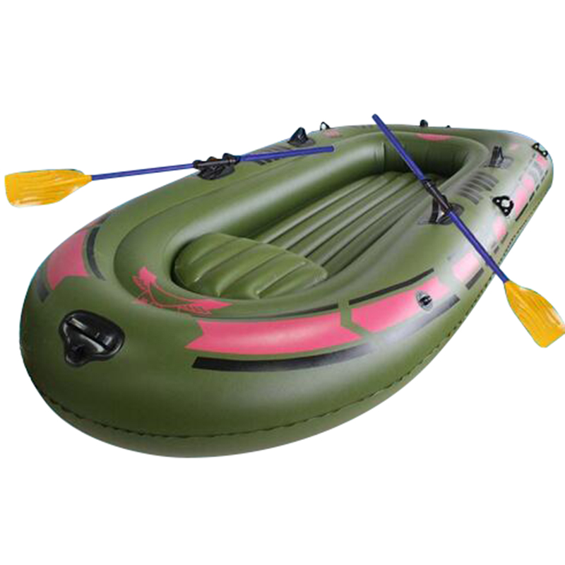 2016 New Inflatable Boat Portable Single Boat High strength PVC Rubber Fishing Boat 150x90cm Max 80KG with Paddles and Pump(China (Mainland))