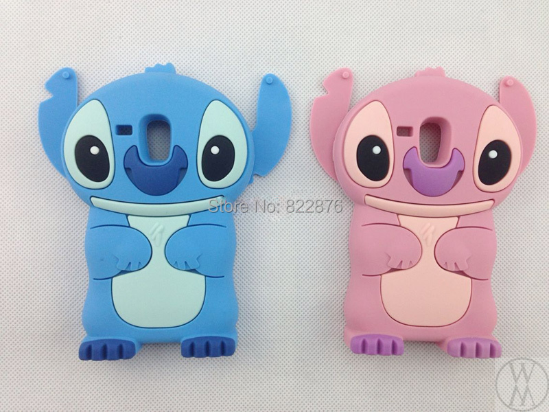 MOQ:10pcs Silicone Stitch Case for Samsung Galaxy S3 Mini 3D Lilo & Stitch Silicon Back Case Cover for Galaxy S3 Mini i8190