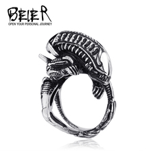 AVP1  cheap Alien Ring Predator male Gothic retro rings titanium steel index finger ring Free shippping TG728
