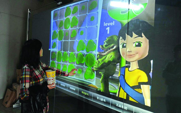 32 inch Interactive Foil Capacitive 6 points Touch Foil Film through glass(China (Mainland))