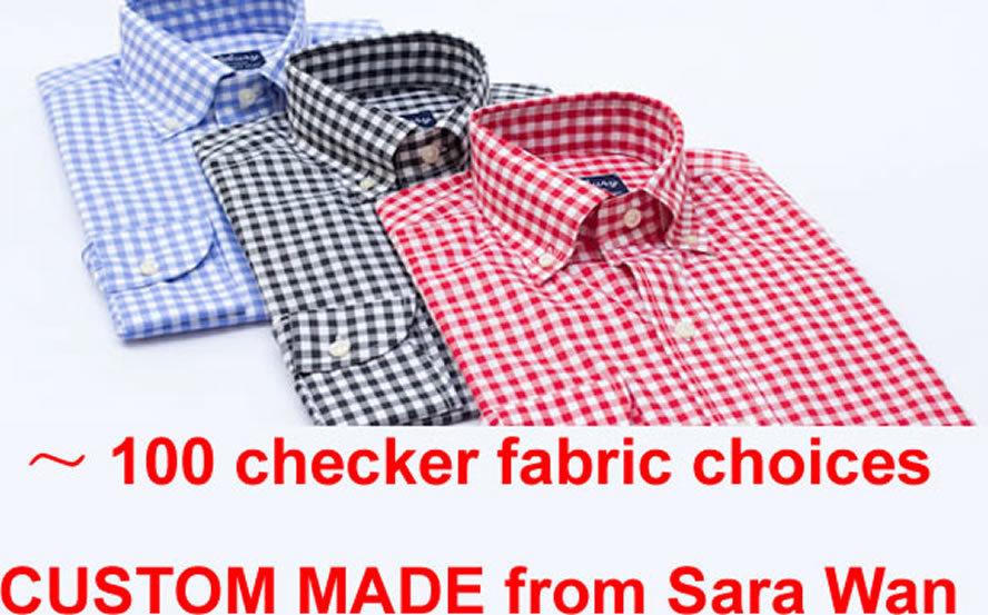 Buy Mens Gingham Dress Shirt Custom Made