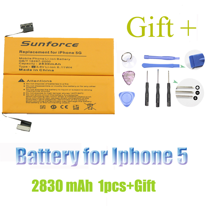 Amazing 2830mAh with tools 3 8V Lithium lon Rechargeable Battery for Iphone 5 5G for Iphone5