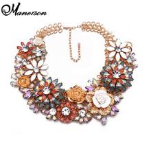 Collar de la declaración de caramelo de colores flor ZA Shourouk gargantilla collares collares cristalinos de moda para mujeres 9860