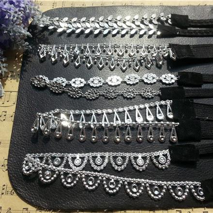 lady women's elastic headband sequins hair band fashion black & silver color cheap hair wear hair accessories(China (Mainland))