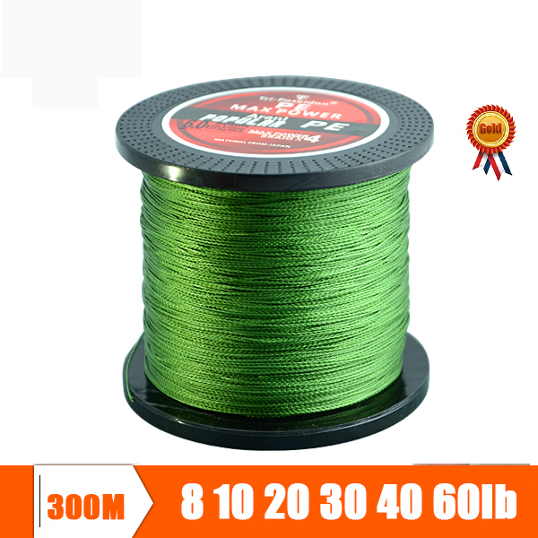 300M Super Strong Multifilament Braided Fishing line 4 strands weaves Janpan PE material Fishing Wire 10lb 20lb 30lb 40lb 60lb(China (Mainland))