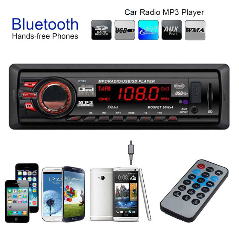 Car Vehicle Music Sound Auto Car Vehicle Audio Stereo In-Dash Bluetooth MP3 Player Radio FM USB SD with Remote Receiver(China (Mainland))