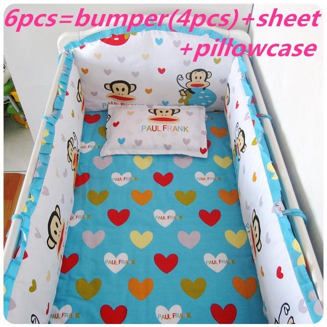 Promotion! 6/7PCS Crib Bedding Set For Childrens Bed Crib Set Baby Bedding ,120*60/120*70cm<br><br>Aliexpress