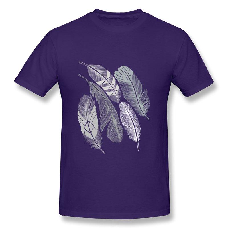 2014 Brand Regular Men Tee Shirt Silver Feathers Custom Funny Quotes Men T Shirts(China (Mainland))