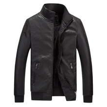 2016 China Factory High Fashion Men's Leather Jackets For Men Real Picture Sheepskin Designer Men Coats Leather Plus Size S1766(China (Mainland))