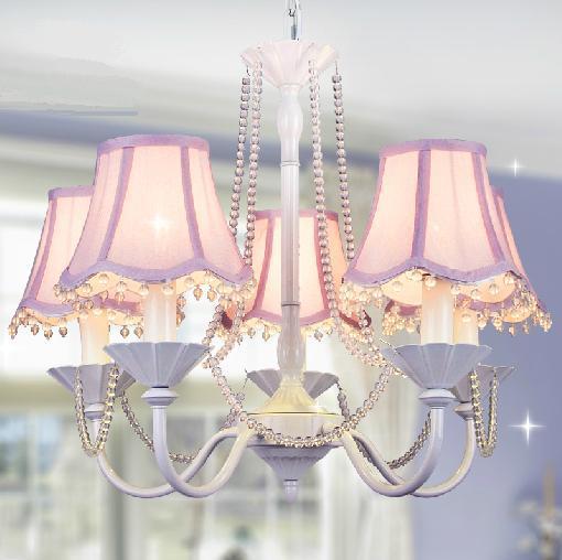 6 Korean princess room white living room chandelier crystal chandelier lamp bedroom lamp idyllic childrens room chandelier girl<br><br>Aliexpress