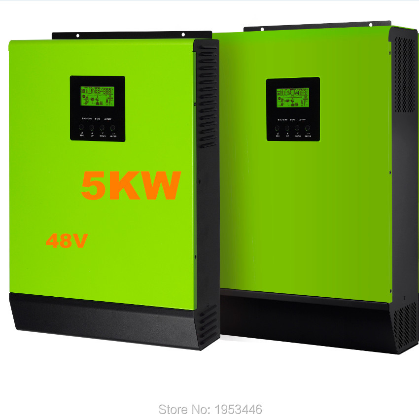 5000w 48v to 230v Hybrid solar power inverter grid tied and off grid solar inverter solar power 6000w single phase(China (Mainland))