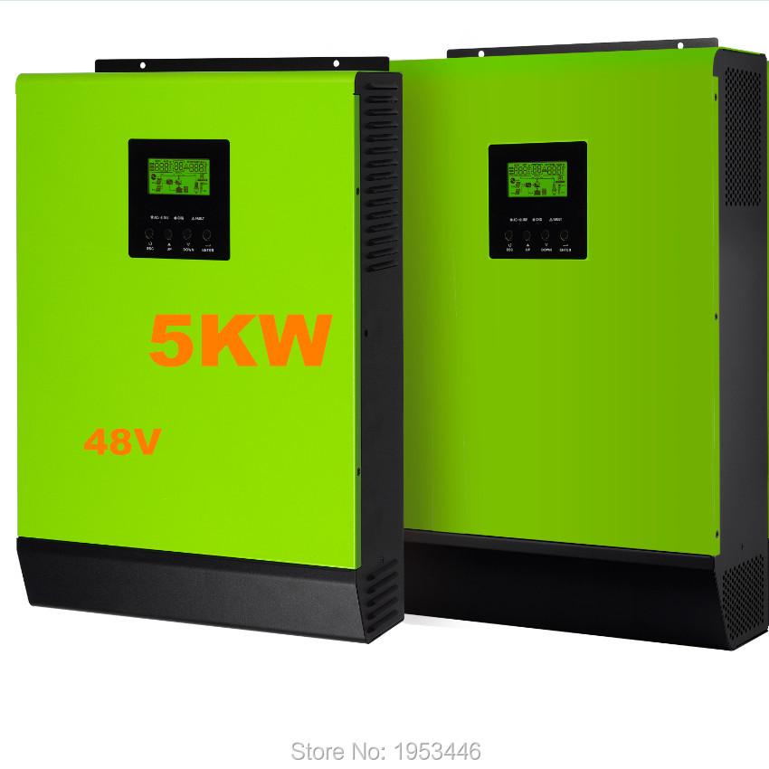 5000w 48v to 230v Hybrid solar power inverter grid tied and off grid solar inverter solar power 6000w single phase(China (Mainland))