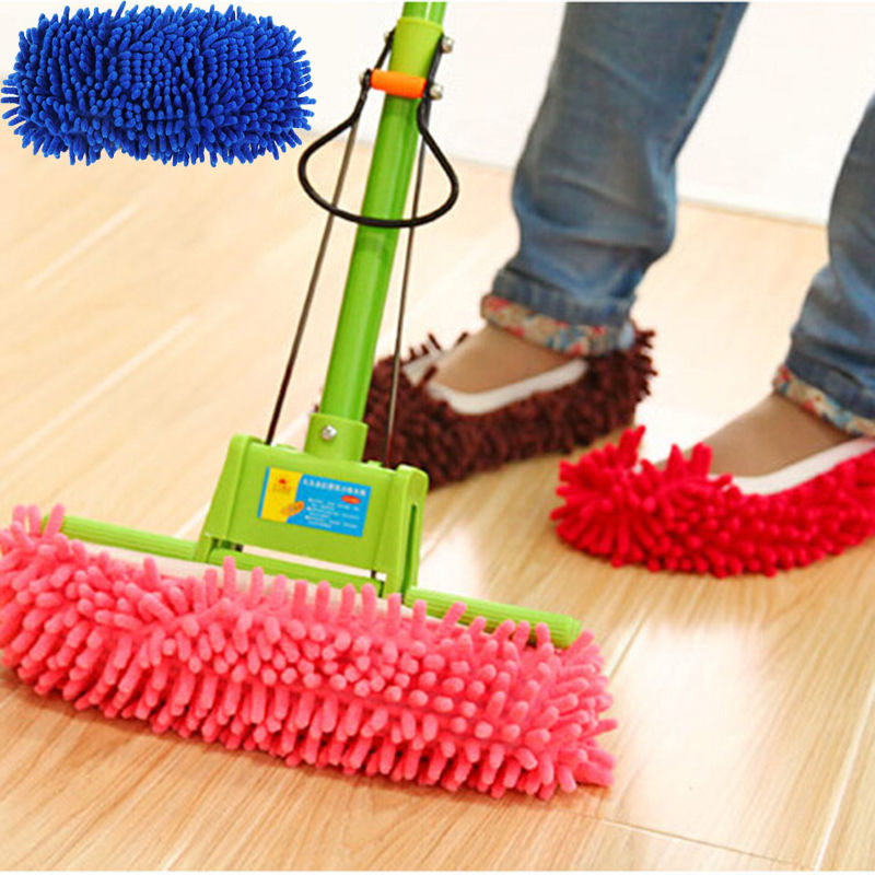 1pcs Dust Mop Slipper House Cleaner Lazy Floor Dusting Cleaning Foot Shoe Cover Dust Mop Slipper(China (Mainland))