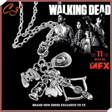 Popular TV drama The walking dead necklace Speed sell through selling 6-in-1 creative necklace(China (Mainland))