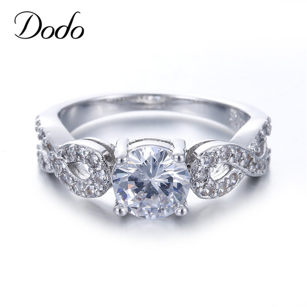 fashion wedding rings for women 585 white gold color intertwined fate love jewelry ring vintage bague female bijoux gifts dr099 - Female Wedding Rings