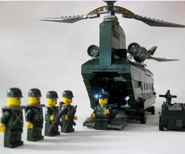 Free shipping 84009 622pcs CH 47 Chinook font b helicopter b font large DIY building block