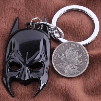 Cosplay Jewelry Movie Batman Mask Keyring Key Chain Bag Phone Accessories Creative Items