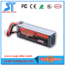 High Quality Wild Scorpion RC 450 480 Helicopter 14.8v 4200mah 35c 100% Origin Lithium Battery