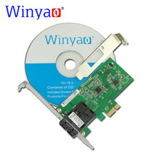 Buy Winyao WY8105FX-SC PCI-E X1 100FX SC (1310nm 20KM) Desktop Fiber Ethernet Network Card Adapter Realtek RTL8105E 100Mbps NIC for $47.70 in AliExpress store