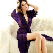 Sleepwear Women's Sleepwear Women's Clothes Set Women robe gown sets  Plus Size(China (Mainland))